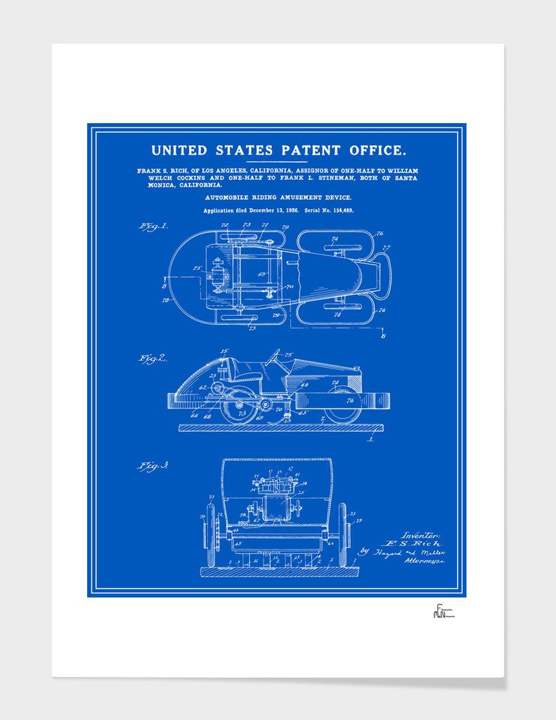 Automobile Amusement Ride - Blueprint