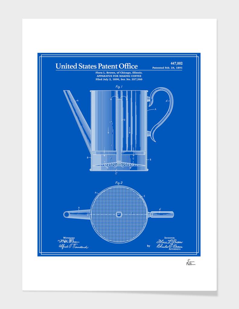 Coffee Press Patent - Blueprint
