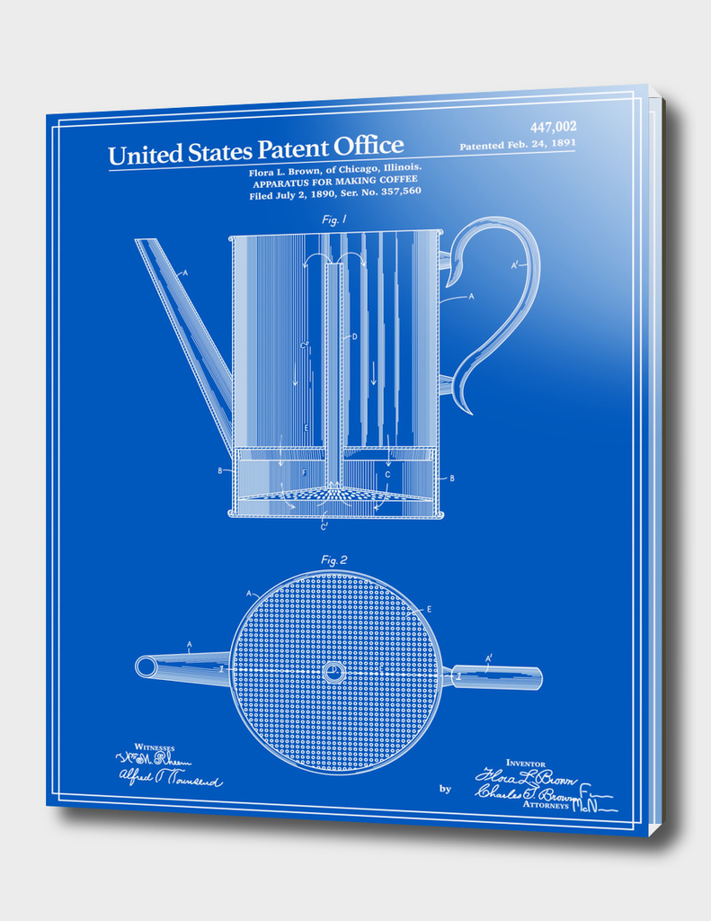Coffee Press Patent - Blueprint