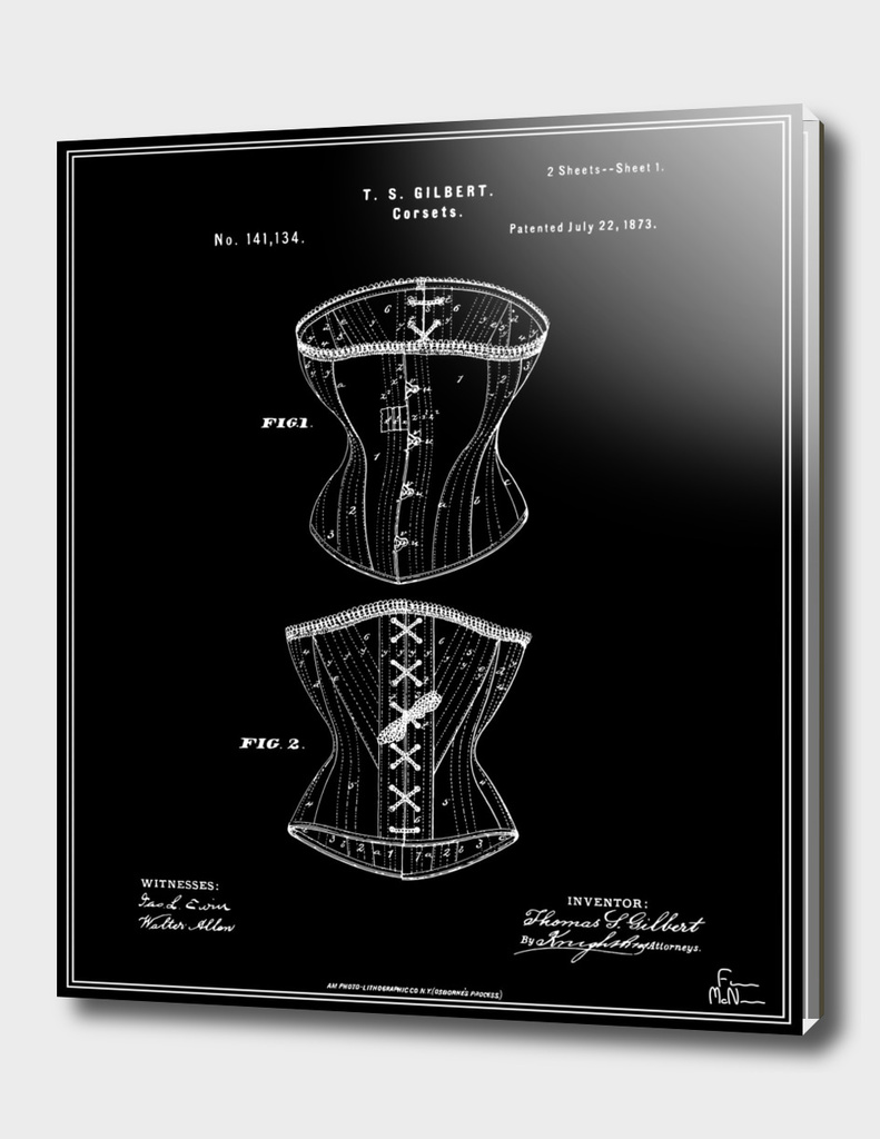 Corset Patent - Black