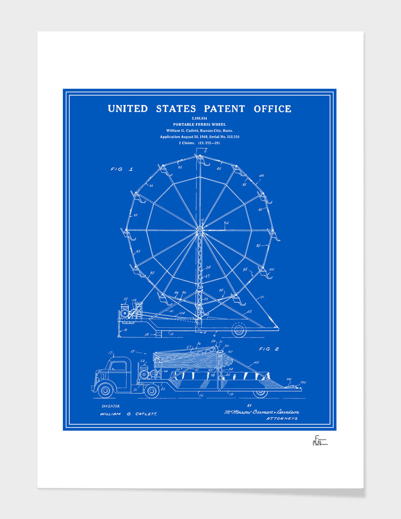 Ferris Wheel Patent - Blueprint