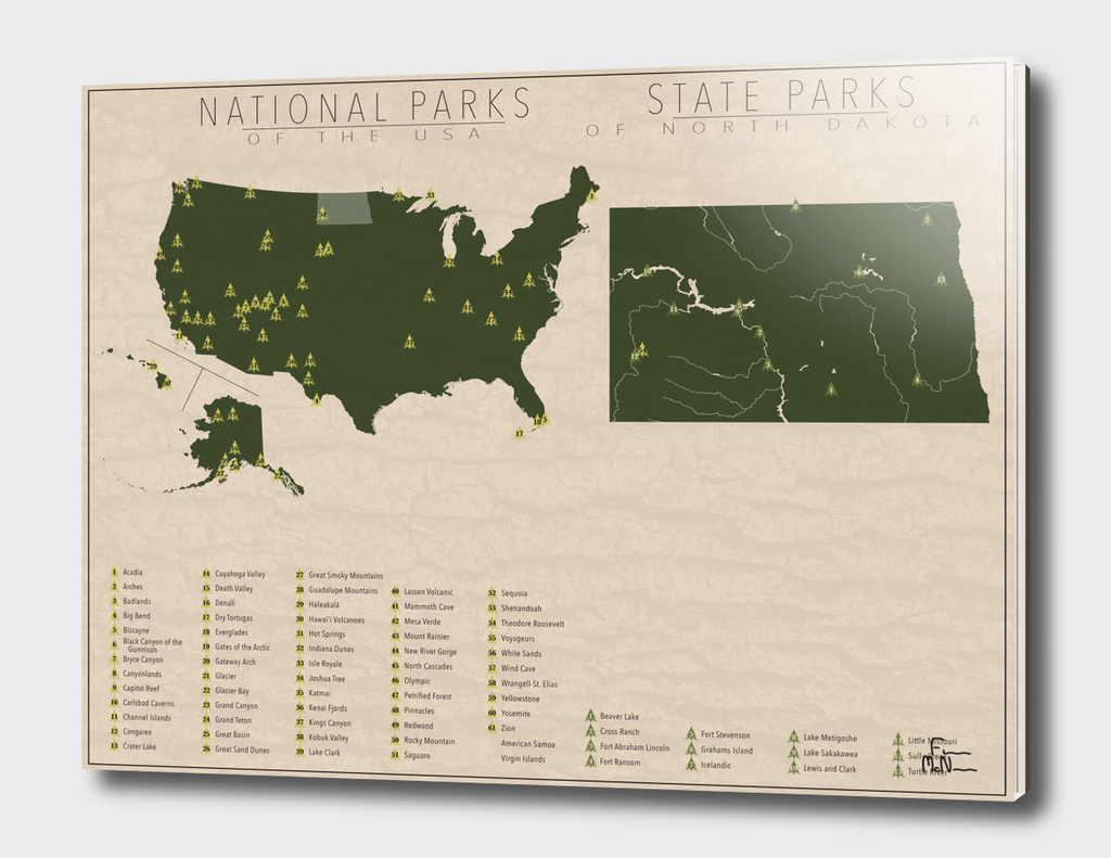 US National Parks - North Dakota