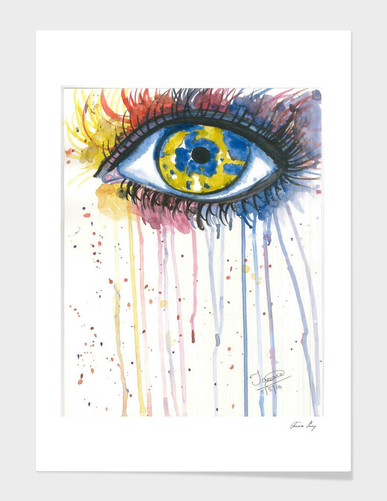 Colorful tears