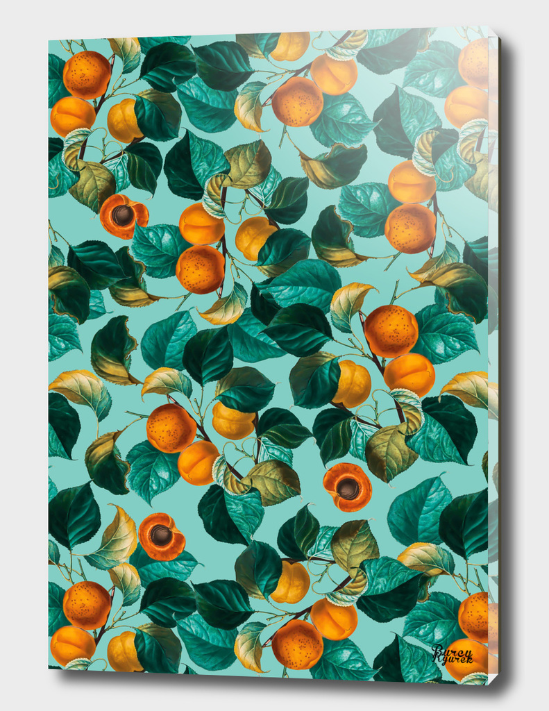Peach and Leaf Pattern