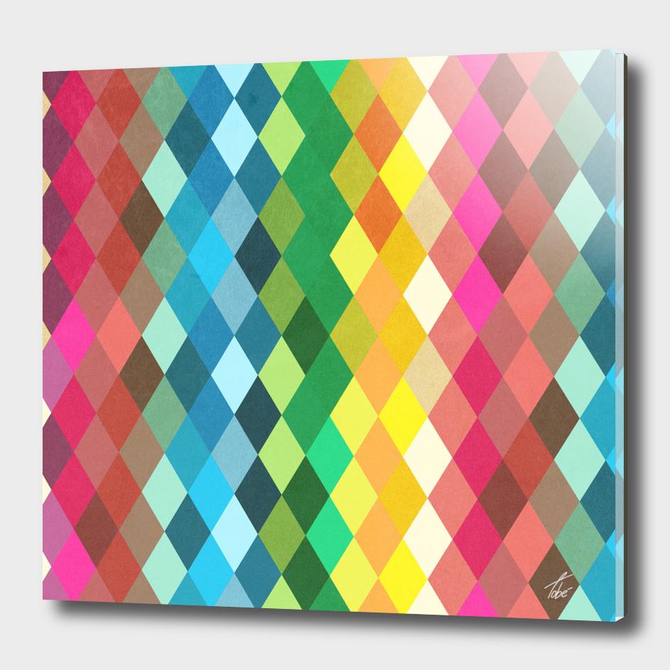 Diamond Color Spectrum Pattern