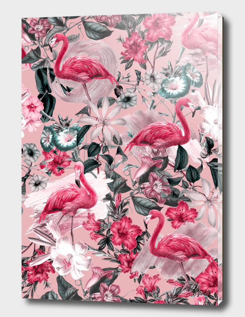 Floral and Flemingo III Pattern