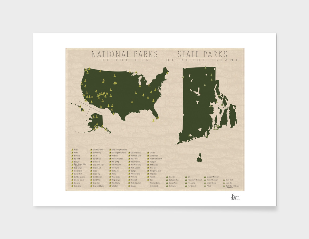 US National Parks - Rhode Island