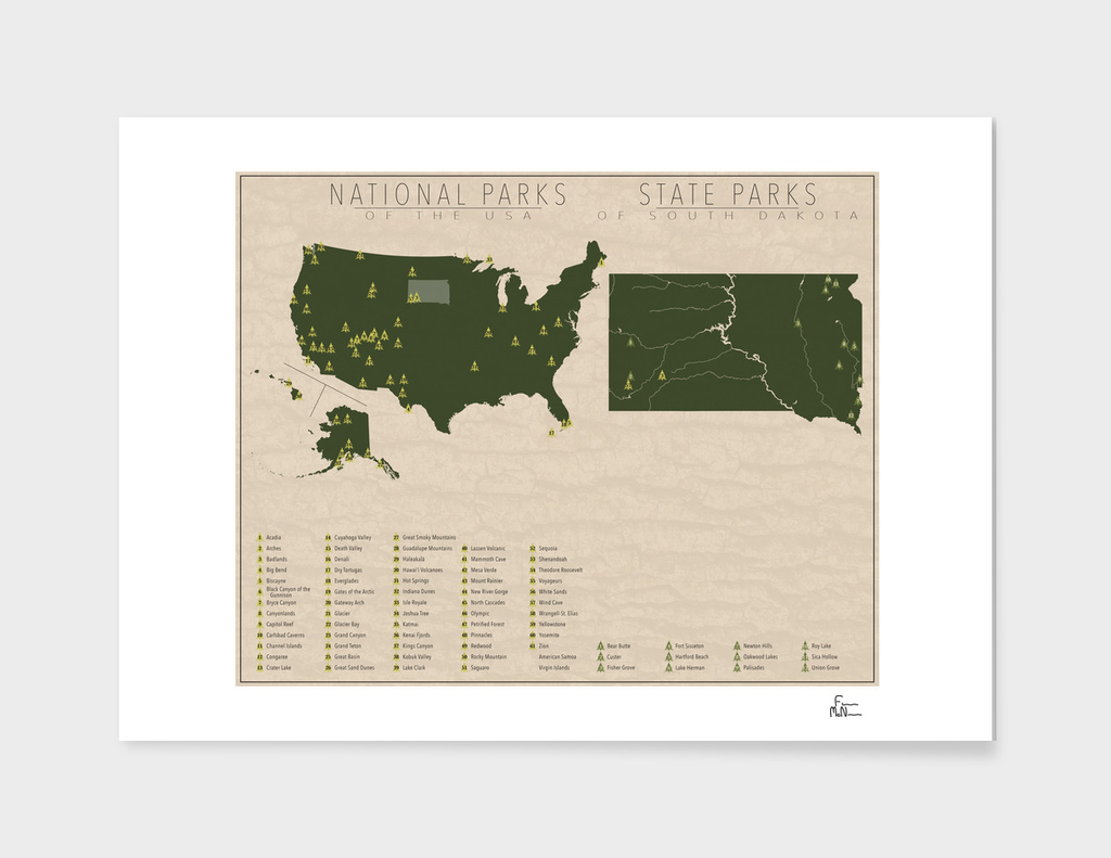 US National Parks - South Dakota