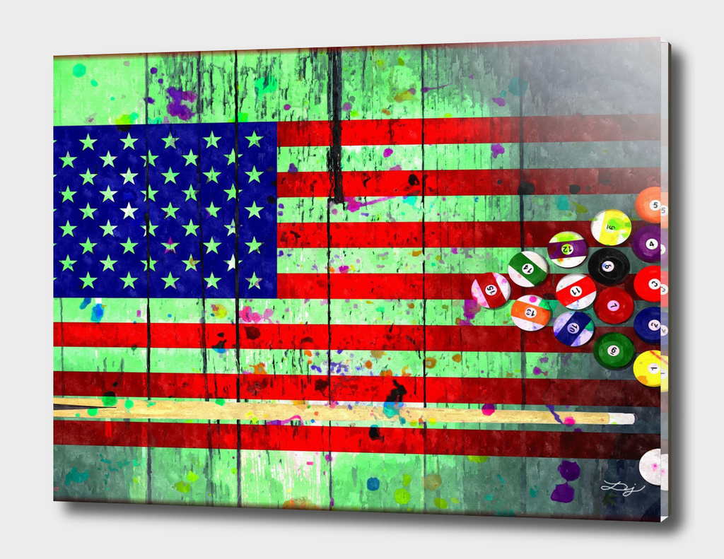 Billiard U.S. Flag
