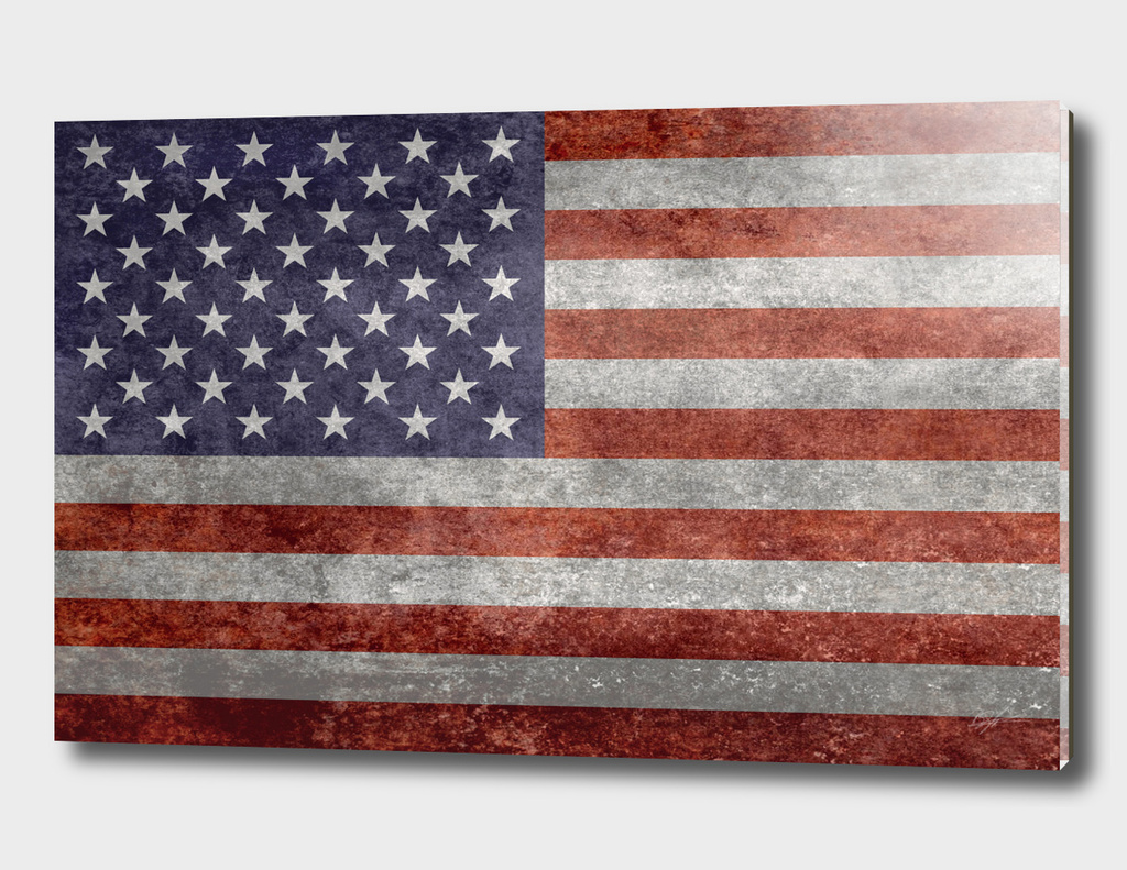 Flag of the USA in Vintage retro style