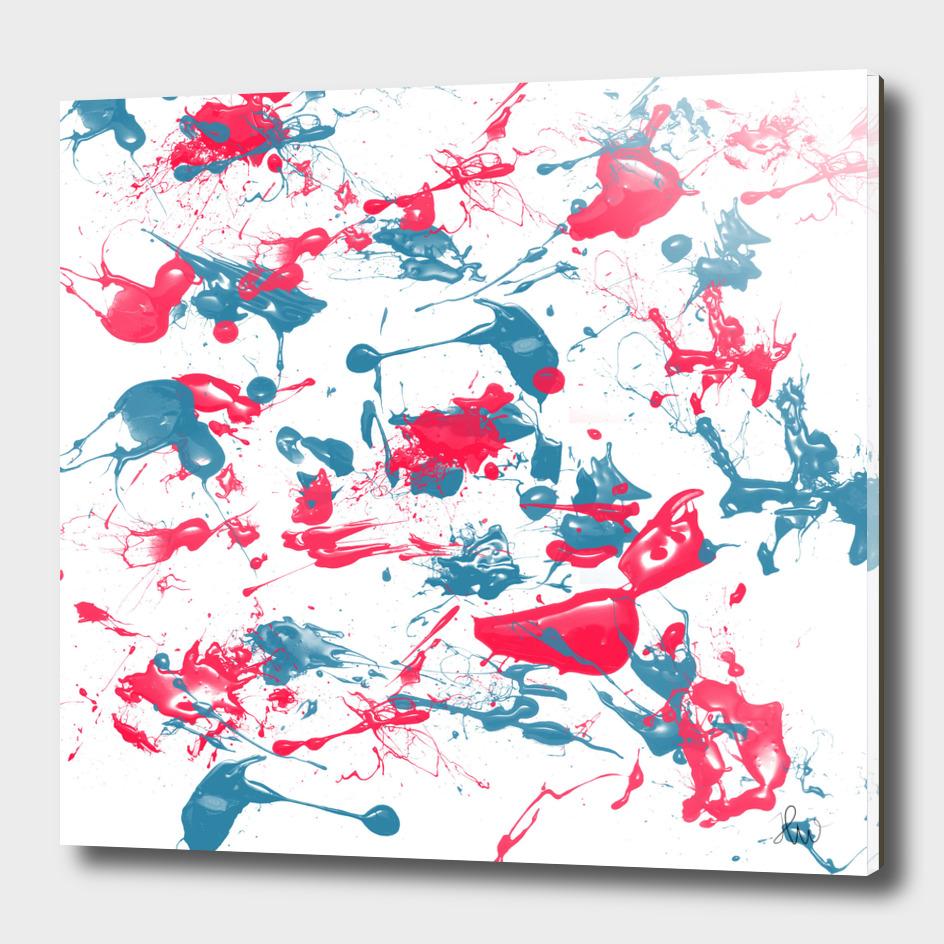 blue and pink splash