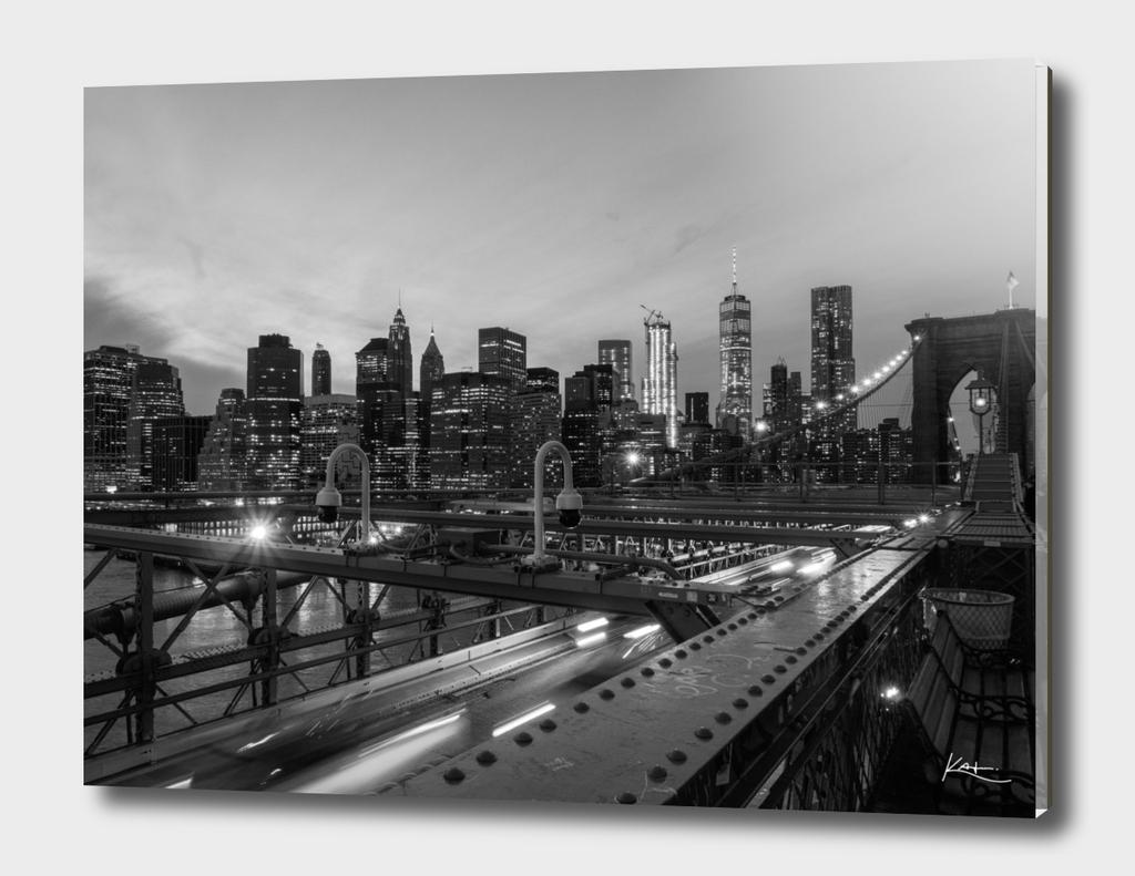 Manhattan view from Brooklyn Bridge