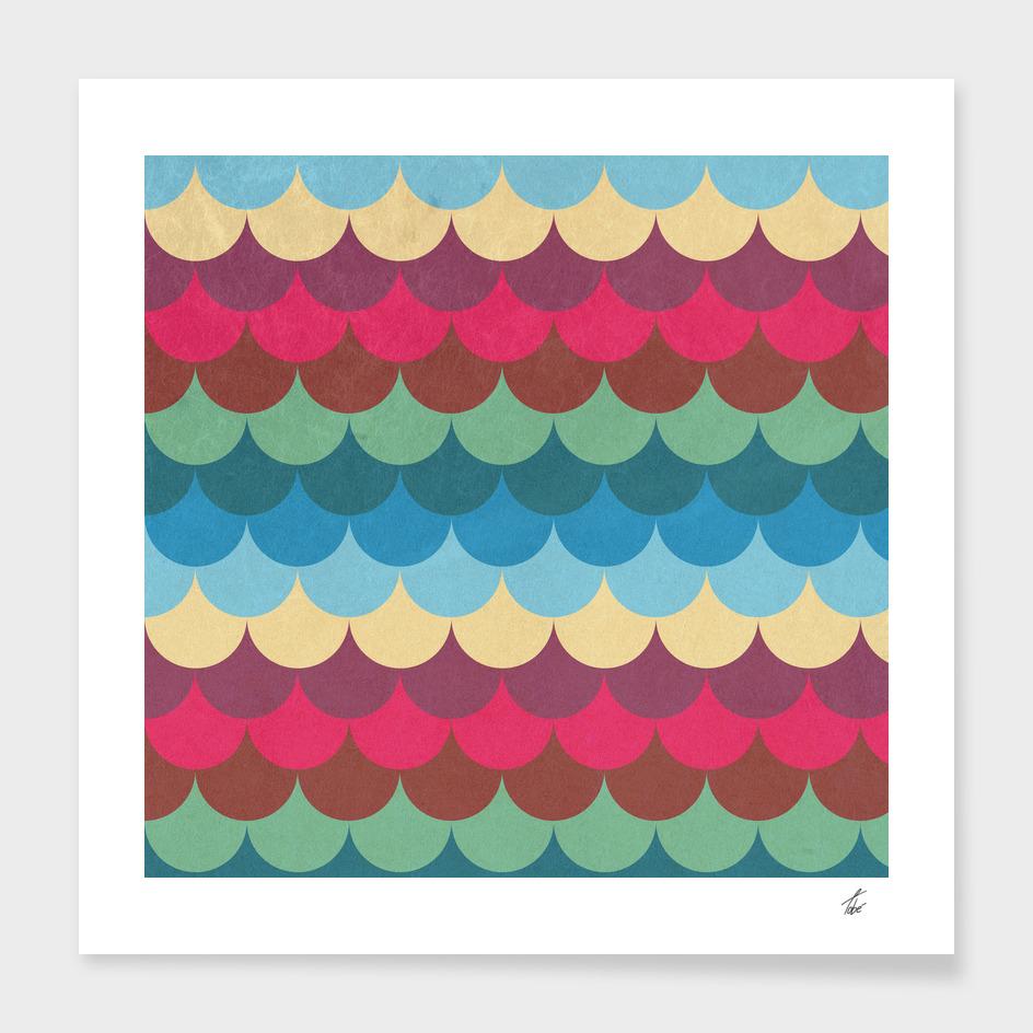 Colorful Mermaid Pattern