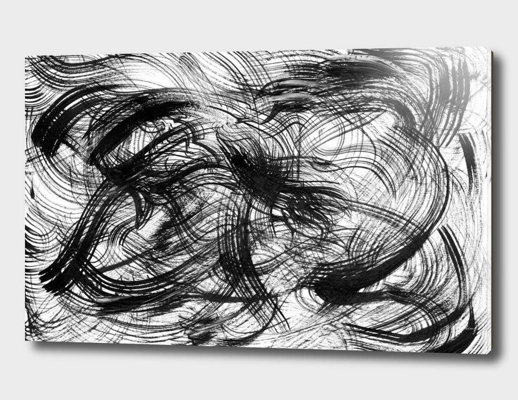 Black waves abstract art