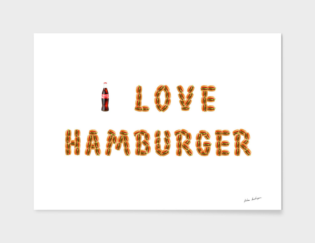 I love hamburger