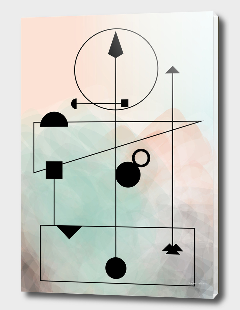 Geometric Scandinavian Design Pastel Colors Poster