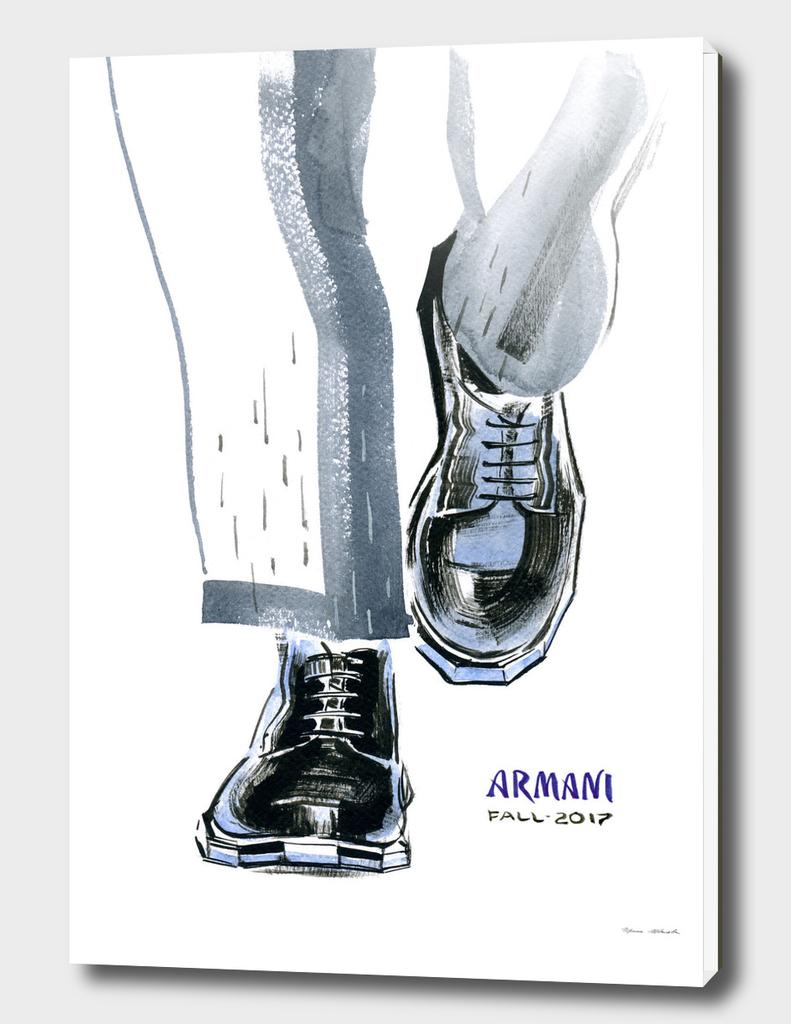 A fashionable men's shoes