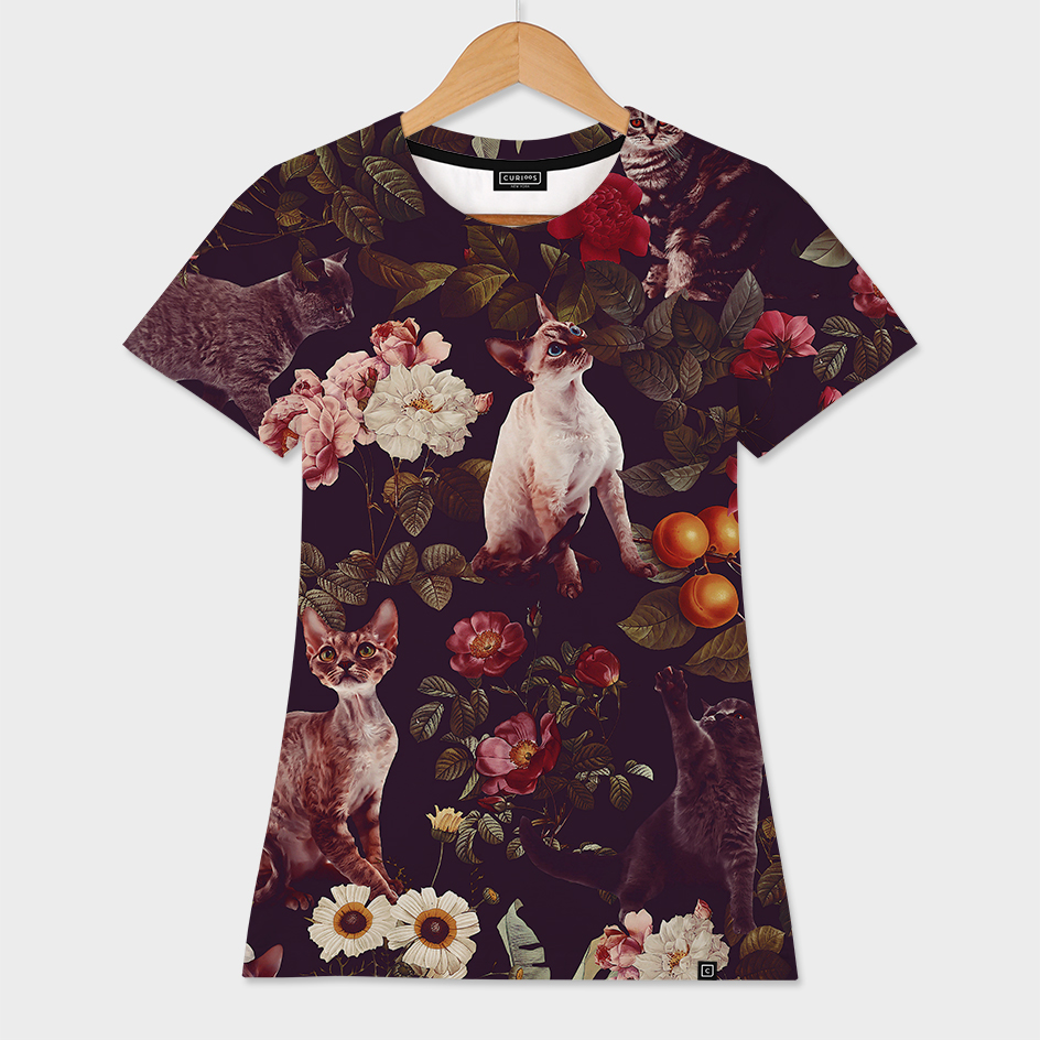 Floral and Cats pattern