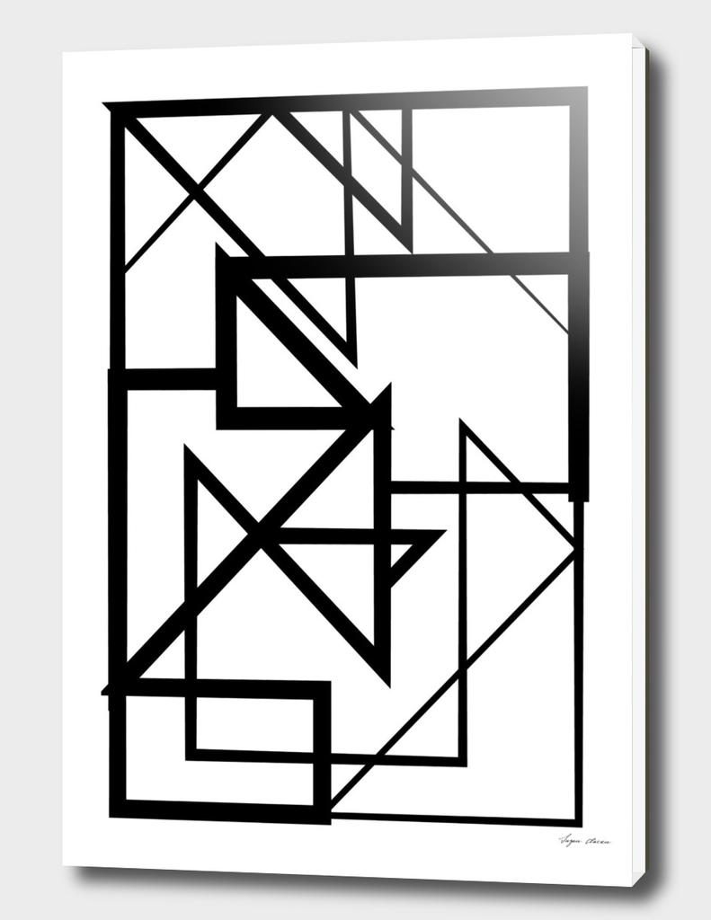 Black & White Minimal Lines nr. 2