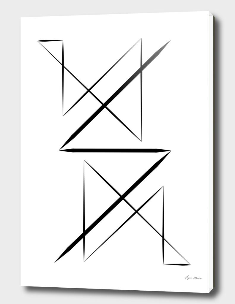 Black & White Minimal Design Nr. 3