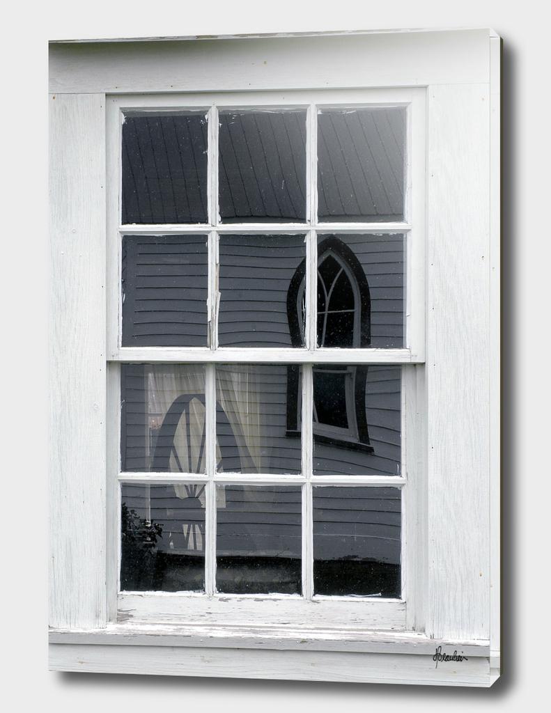 081004N Window, spinning wheel