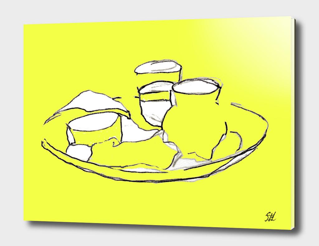 Continental Breakfast 2 Drawing