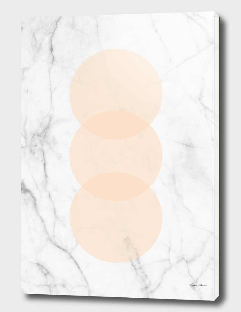 Marble Scandinavian Design Geometric Circle