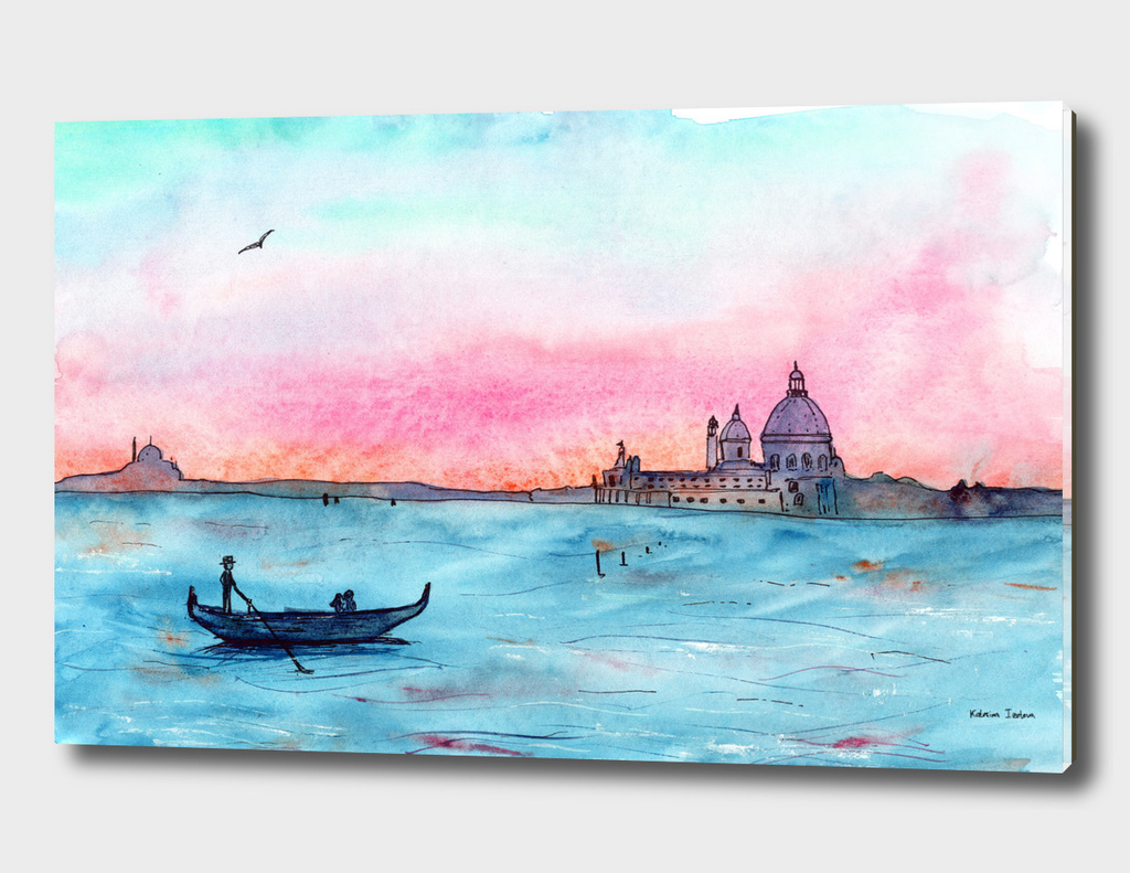 Love in Venice || watercolor
