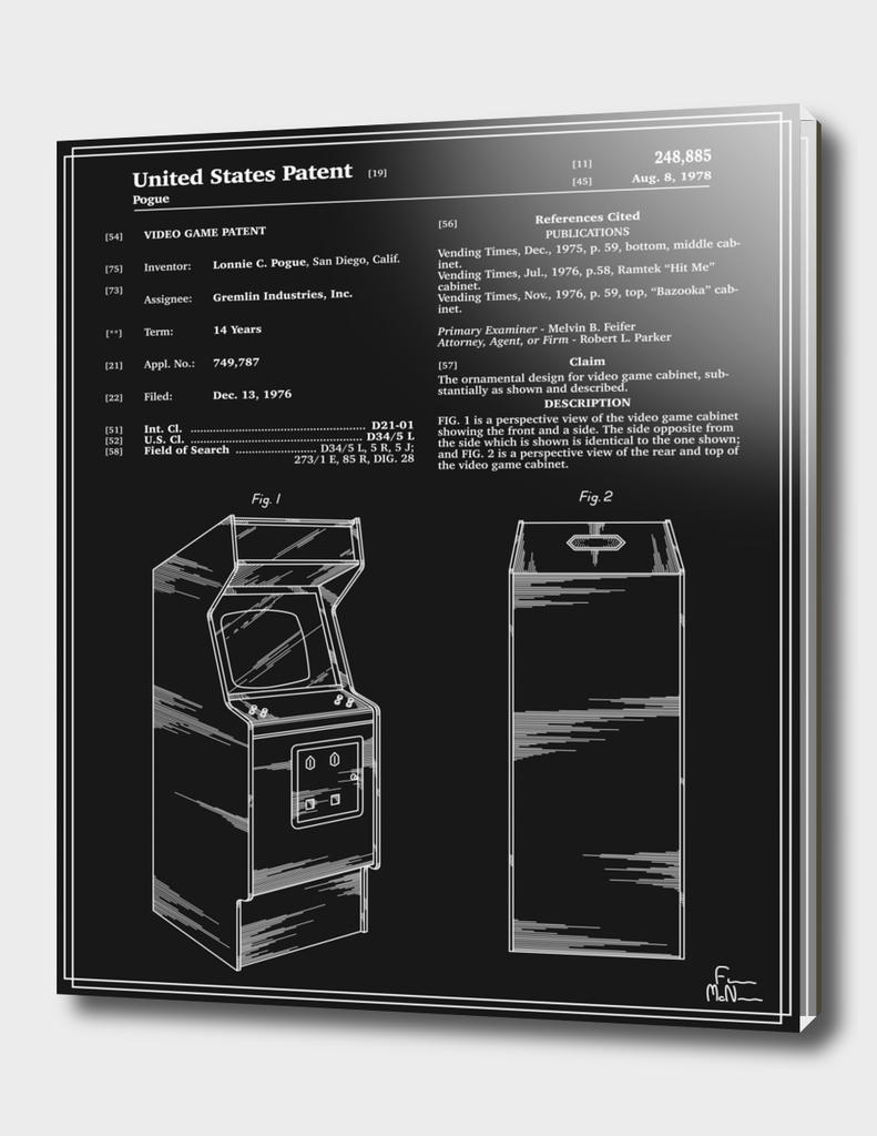 Arcade Game Patent - Black