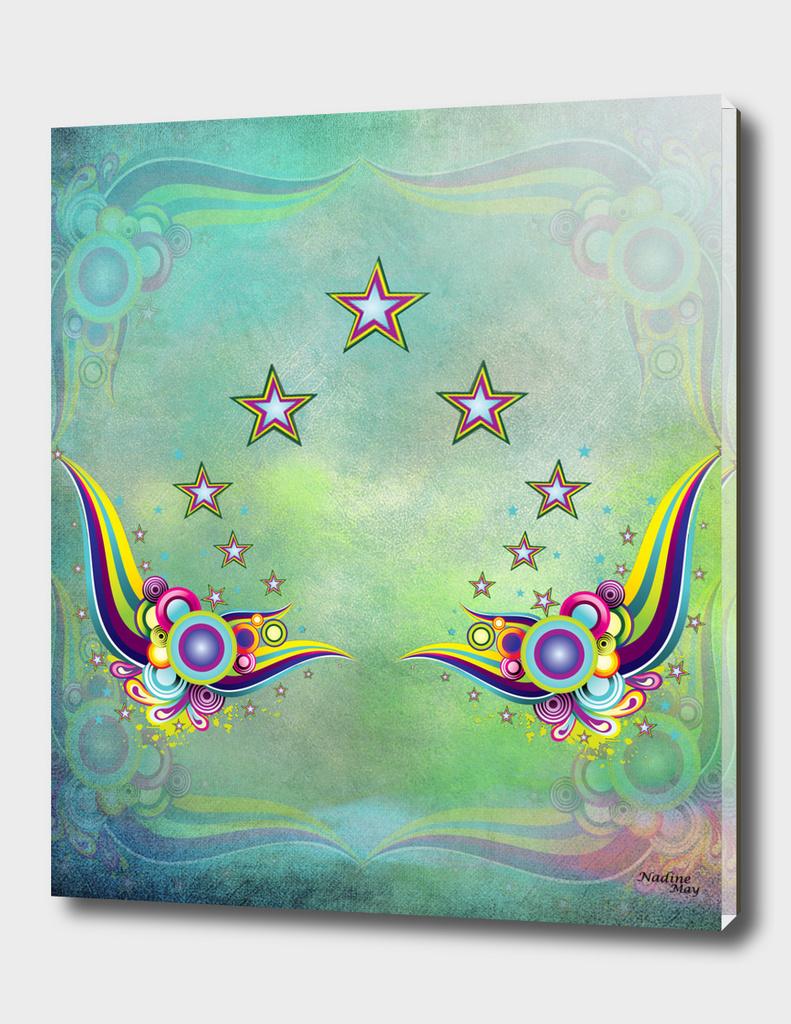 Multi-color fantasy abstract design