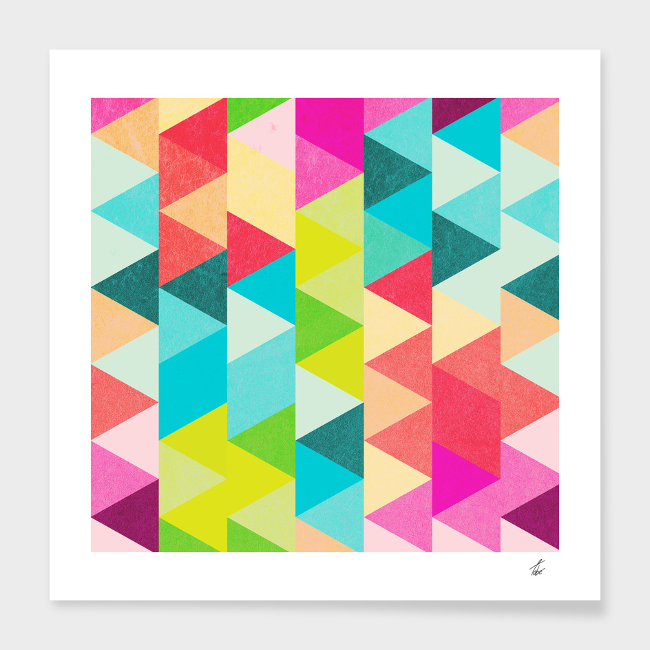 Bubblegum Triangles Pattern