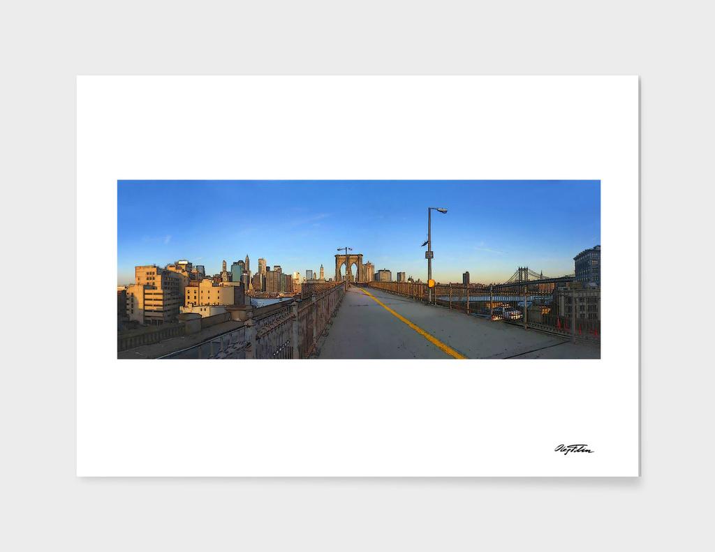 The Brooklyn Bridge, 6 a.m.