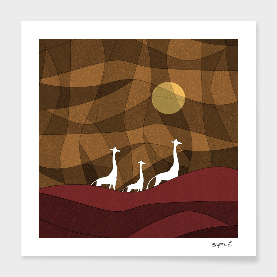 Beautiful Giraffe family design