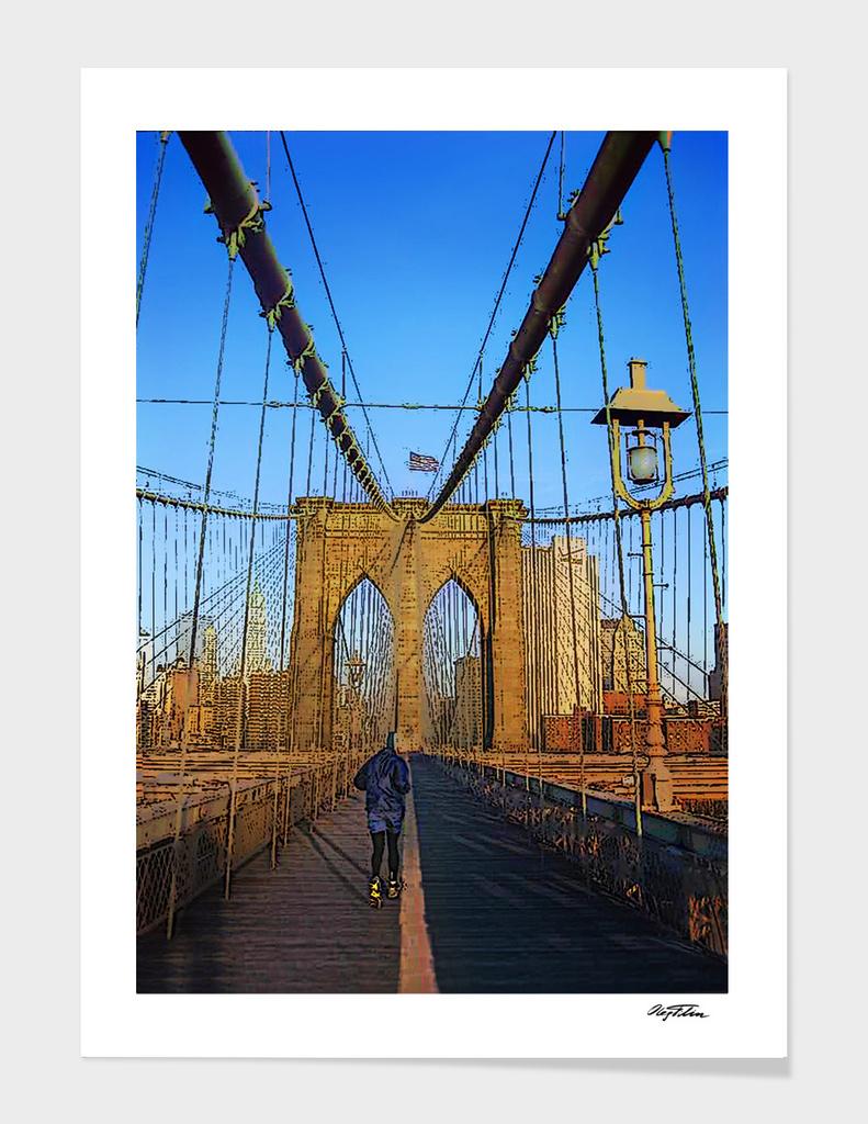 Yellow Stripes (the Brooklyn bridge)