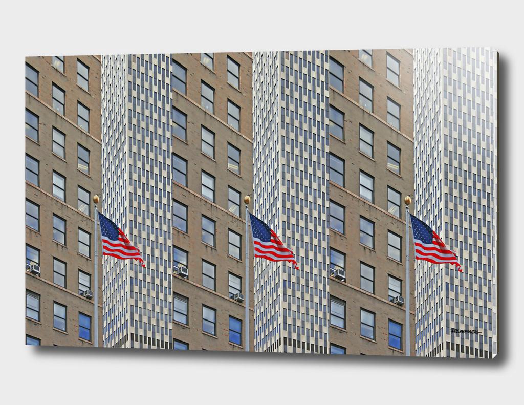 Americana - Triple Stars and Stripes - Photo - NYC