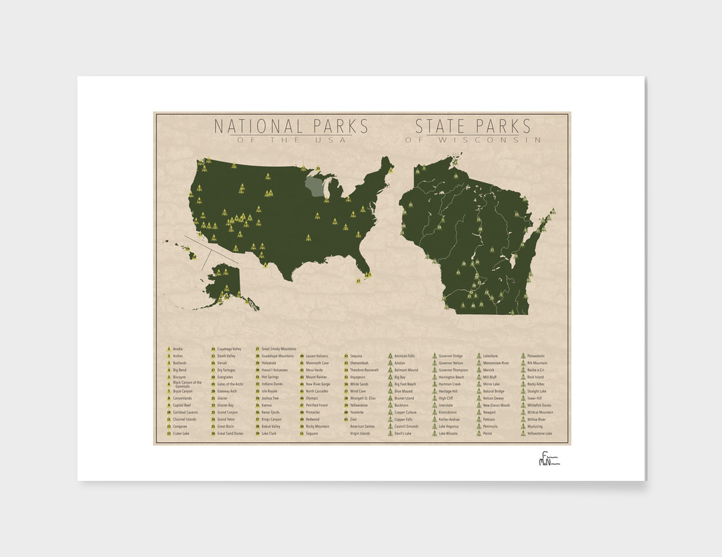 US National Parks - Wisconsin