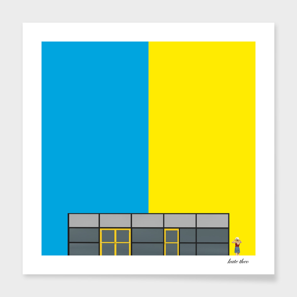 blu and yellow