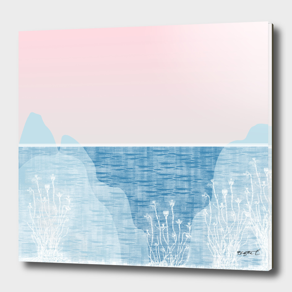 Pastel Sea Landscape Design