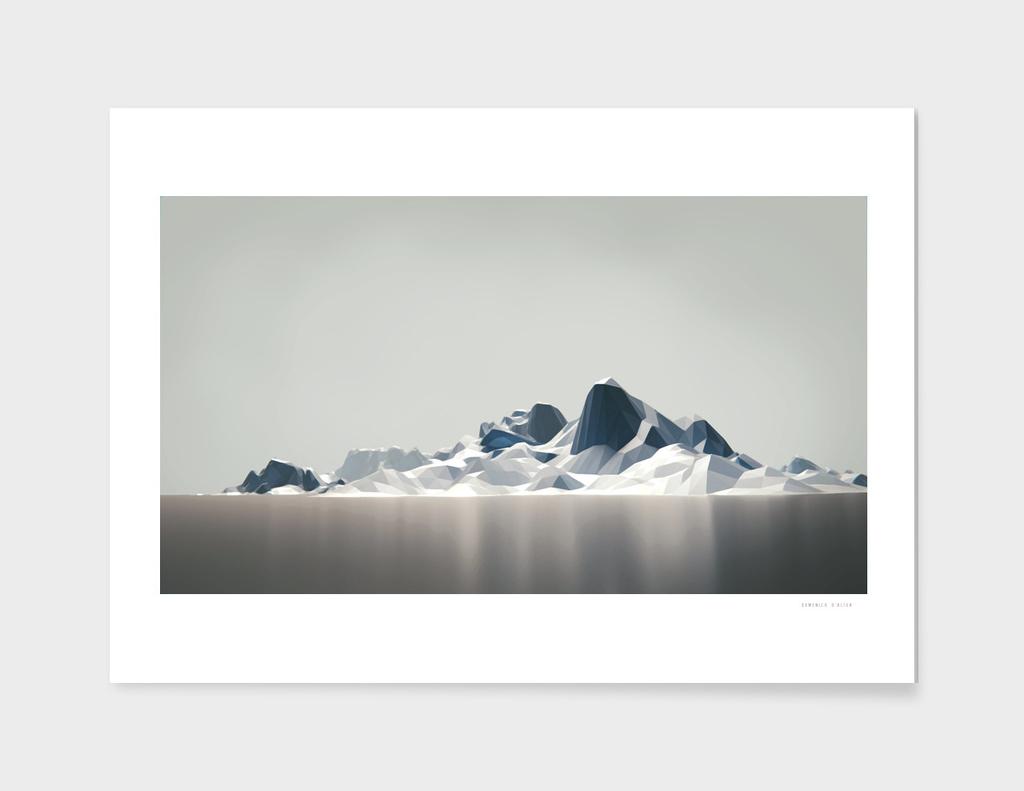 Low poly arctic landscape