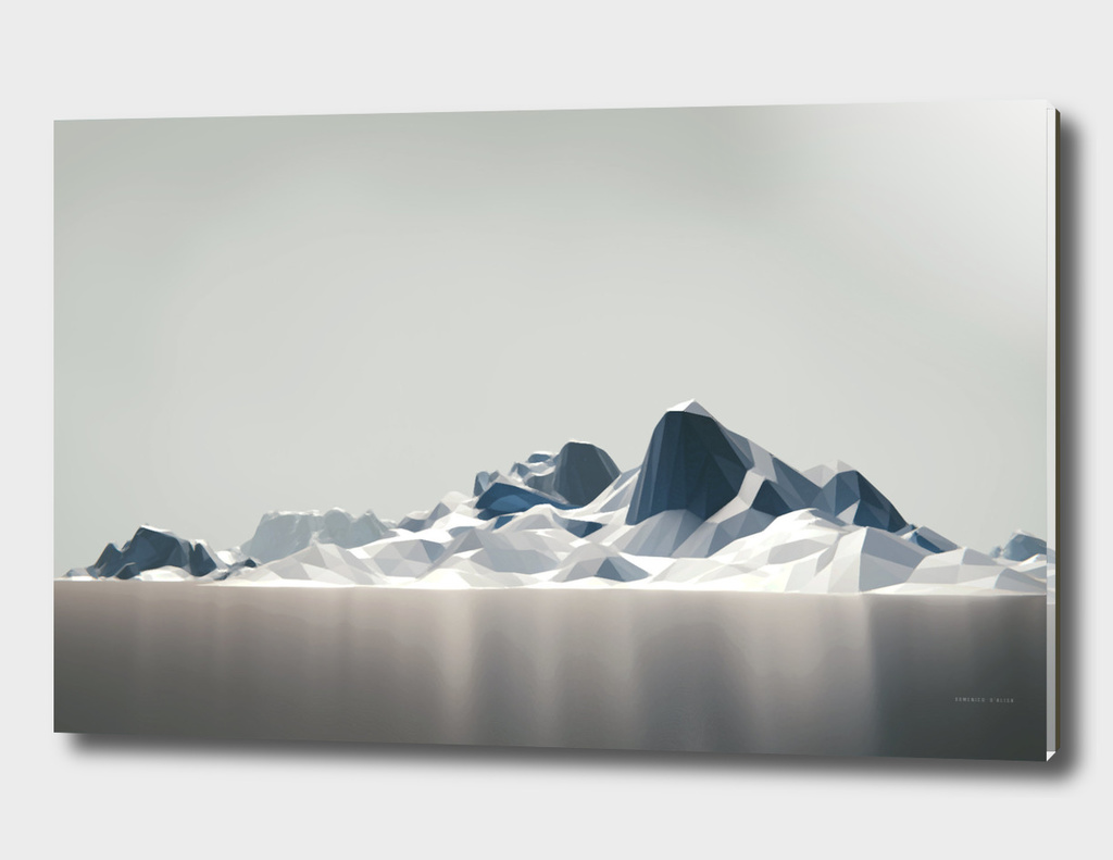 Low poly arctic landscape