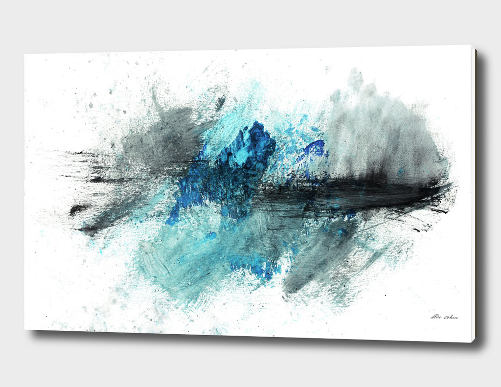 Breakwater abstract art