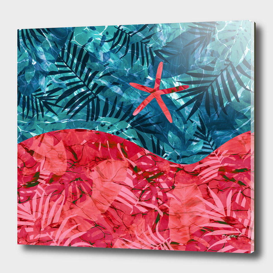 Abstract Under Water Starfish Design