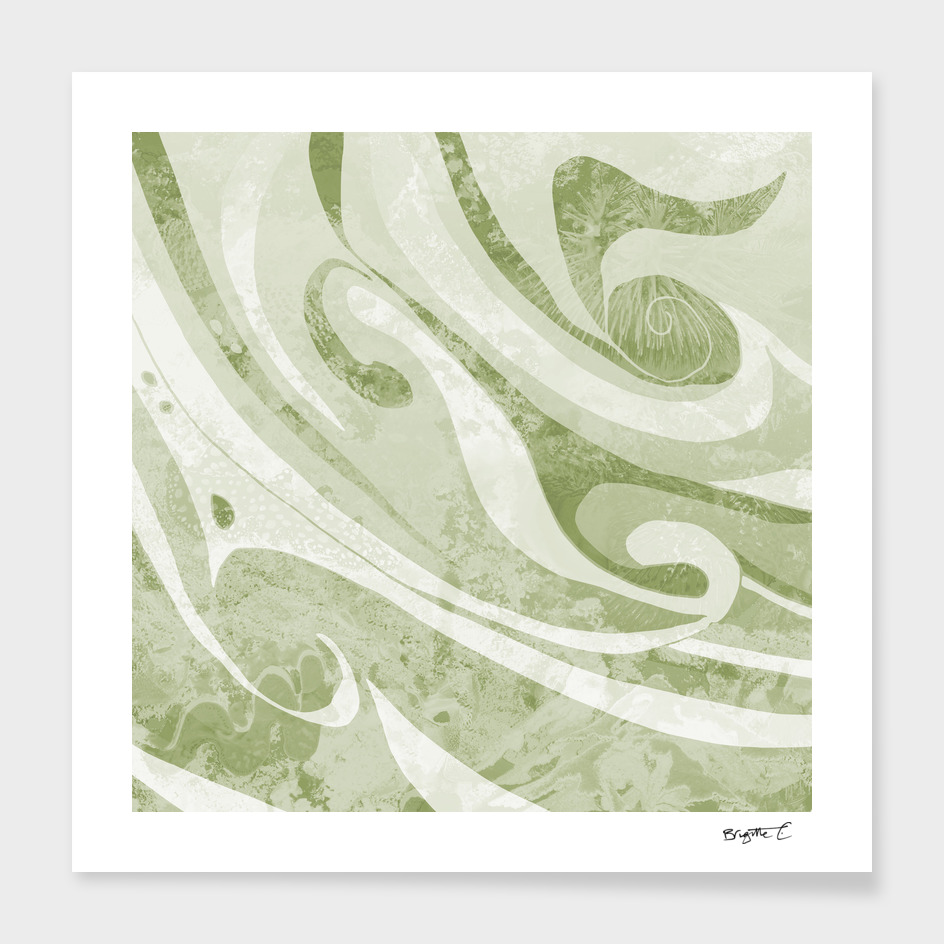 Abstract Green Waves Design