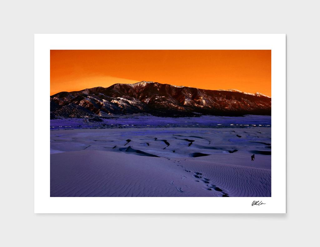 Blue Desert Orange Sky