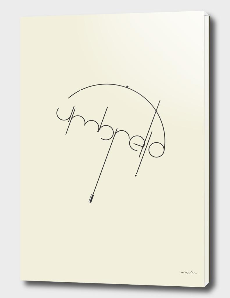 Umbrella #Typo