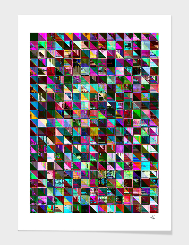 glitch color pattern