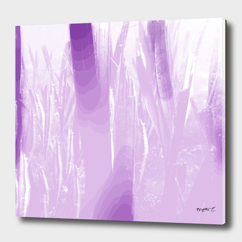 Abstract Purple Underwater Vegetation Design