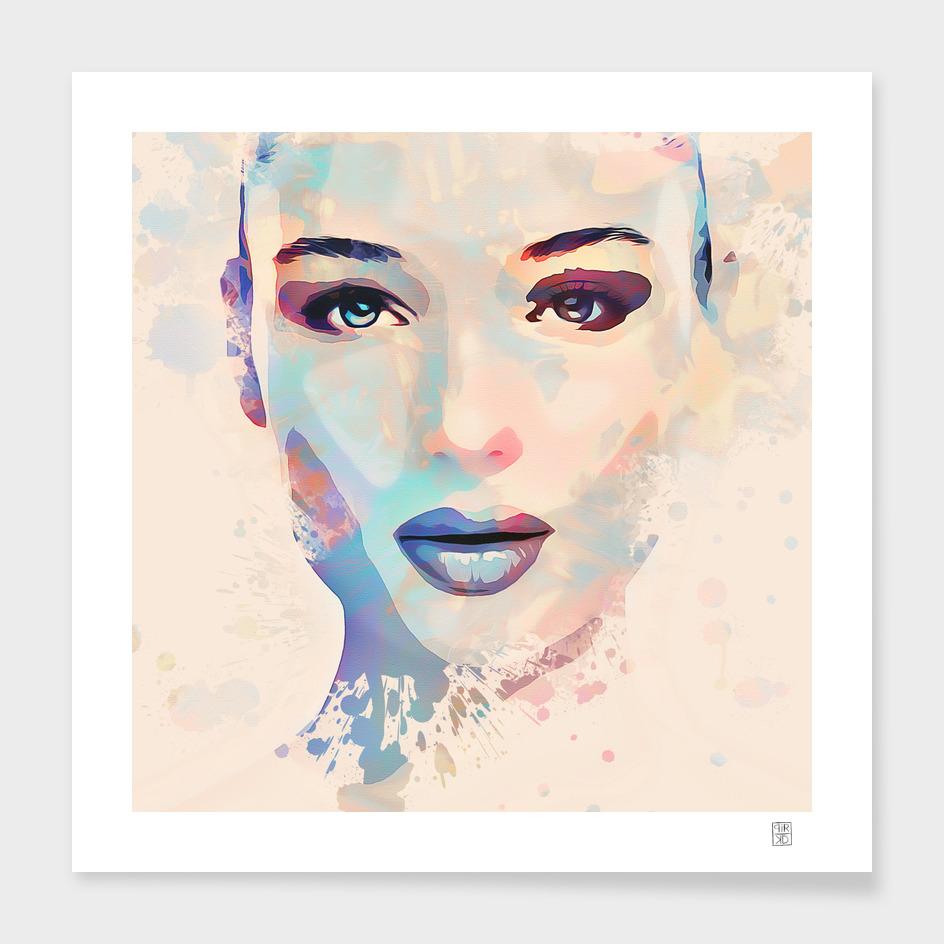 woman in watercolor