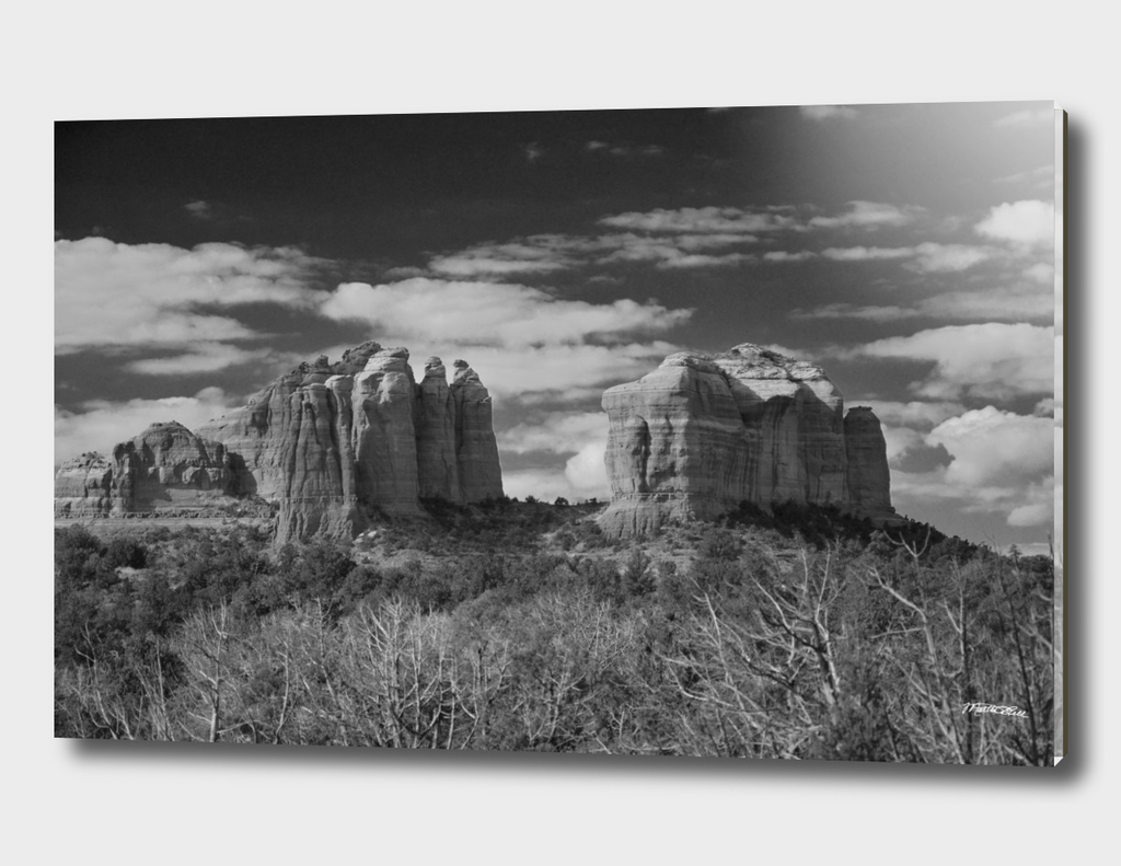 Scenic Utah BW