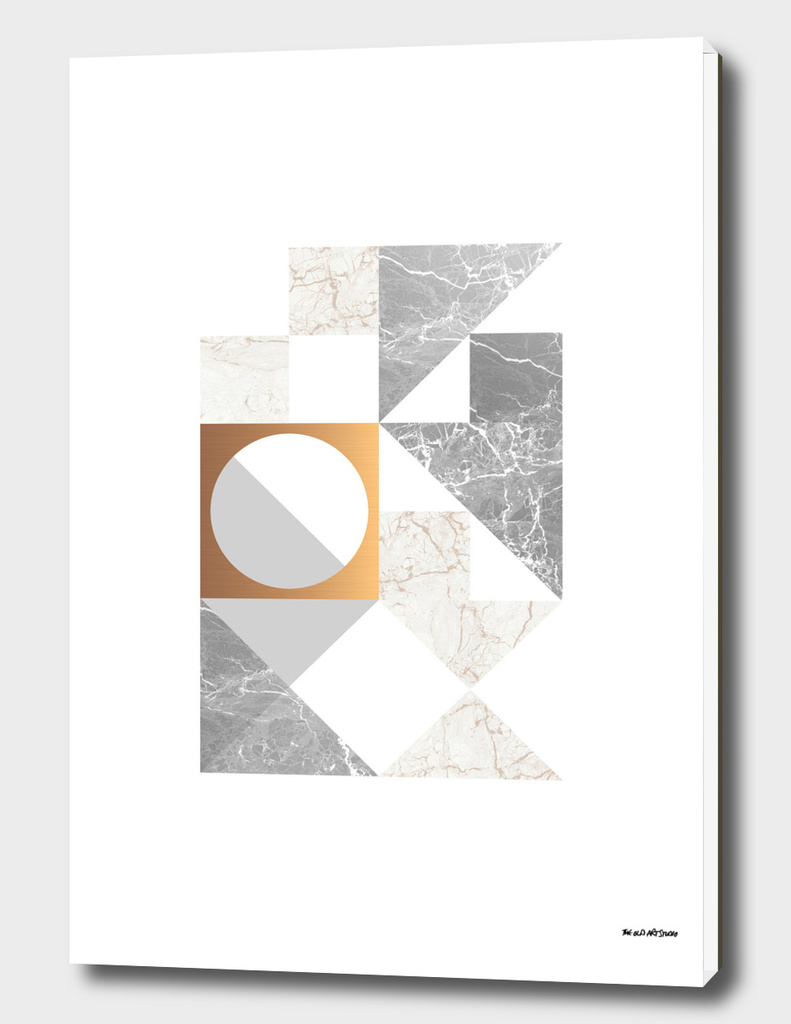 Marble Geometric Grey/White